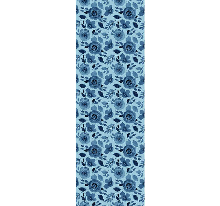 TenStickers. Natuur behang blauwe bloemen. Als je van bloemen houdt en van een blauwe kleur houdt, hebben we iets perfect voor je vinylbehang voor keuken dat deze kamer prachtig zal maken.
