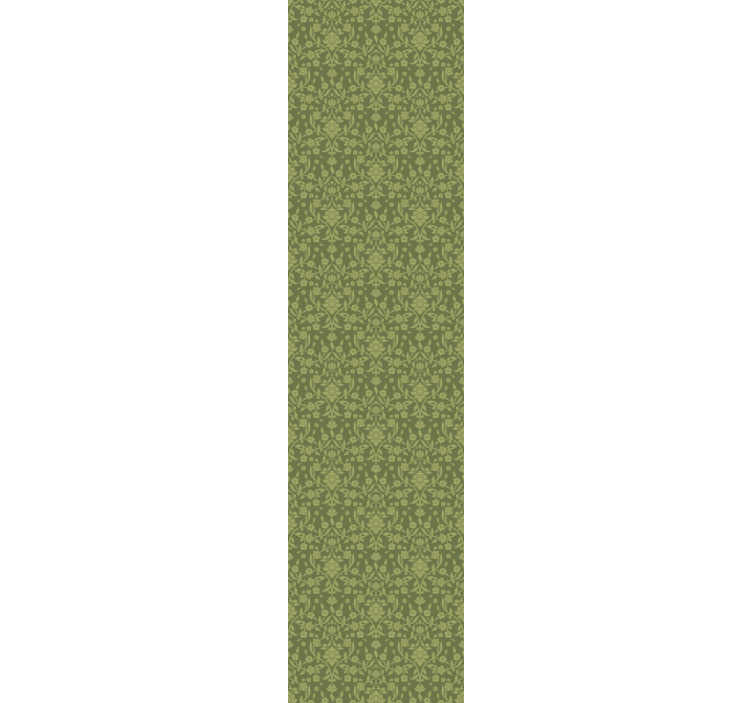 TenStickers. Classic Wallpaper green English style. Ornamental wallpaper is a perfect way to change your boring walls into spectacular piece of art. The design consists of lightly green flowers.