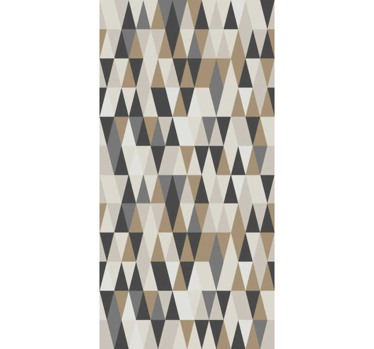 TenStickers. Scandinavian motifs Circle Pattern Wallpaper. If you love the scandinavian decorative style, then this triangle wallpaper with a geometric pattern in shades of brown is perfect for you!