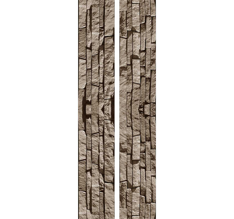 TenStickers. Stone Effect Textured Wallpaper. Fantastic textured wallpaper with a pattern composed by stones disposed vertically through the wallpaper perfect for rustic and modern decorations.