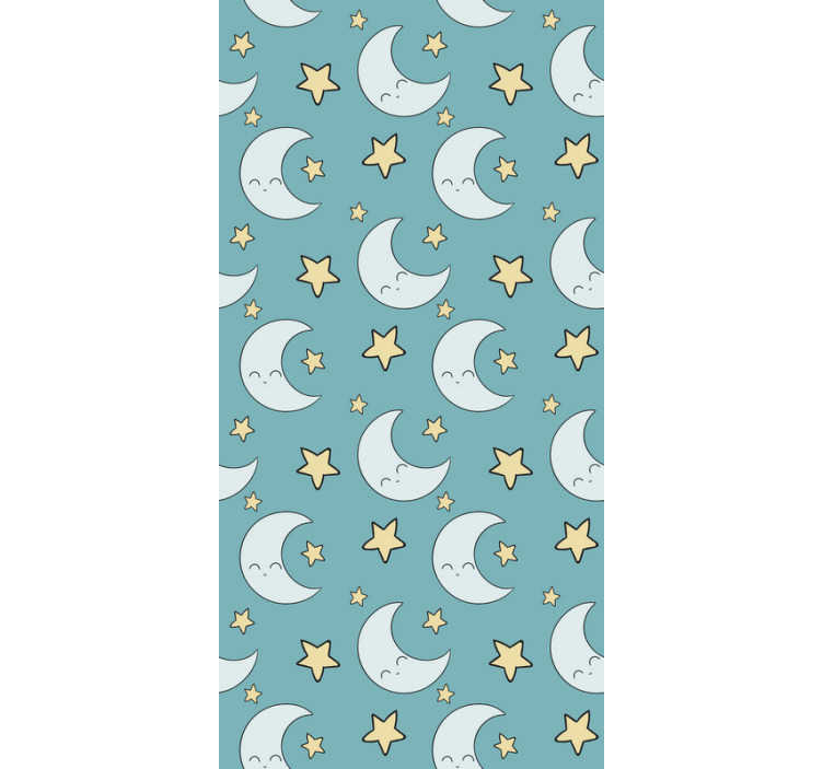 TenStickers. Stars and moon Kids Wallpaper. Looking for a beautifull way to personalize your baby's room? Then, this kids room wallpaper with a pattern of moons and stars is perfect for you.