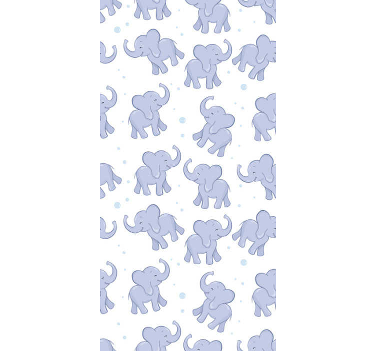 TenStickers. Childrens wallpaper Little Elephant and Bubles. This childrens bedroom wallpaper is a cheap and easy way to totally transform your interiors. Suprise your kids! The design of cute elephants.