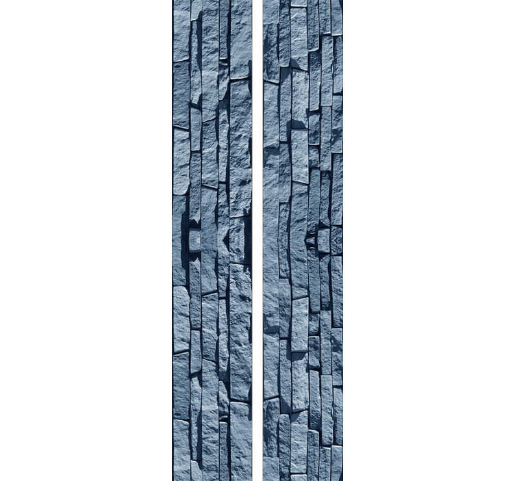 TenStickers. Textured Wallpaper Blue fake stone. This stone wallpaper is one of the best things you can buy redecorate your flat in a cheap and effective way. Trust in the high quality material.