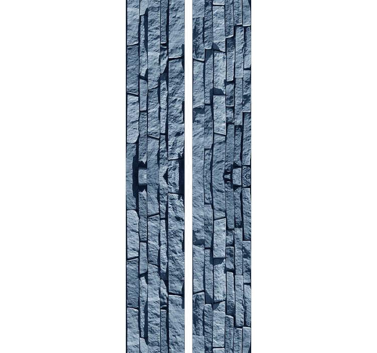 TenStickers. Textuur behang blauwe stenen. Dit stenen behang is een van de beste dingen die je kunt kopen om je appartement op een goedkope en effectieve manier te decoreren. Vertrouwen in het hoogwaardige materiaal.