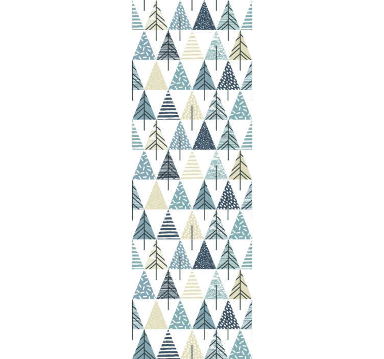 TenStickers. Wallpaper nordic pattern. Order this modern triangle wallpaper with the nordic pattern to redecorate your bedroom or living room. High quality material!