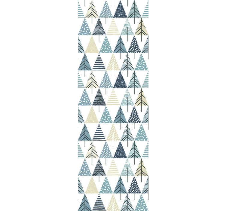 TenStickers. 벽지 북유럽 패턴. 이 현대 삼각형 벽지를 북유럽 패턴으로 주문하여 침실이나 거실을 장식하십시오. 고품질 소재!