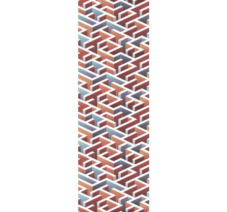 TenStickers. Carta da parati labirinto chiaro 3d. Perdersi in questo fantastico design di infinito labirinto di questo fantastico salotto moderno. Realizzato con materiale di alta qualità!