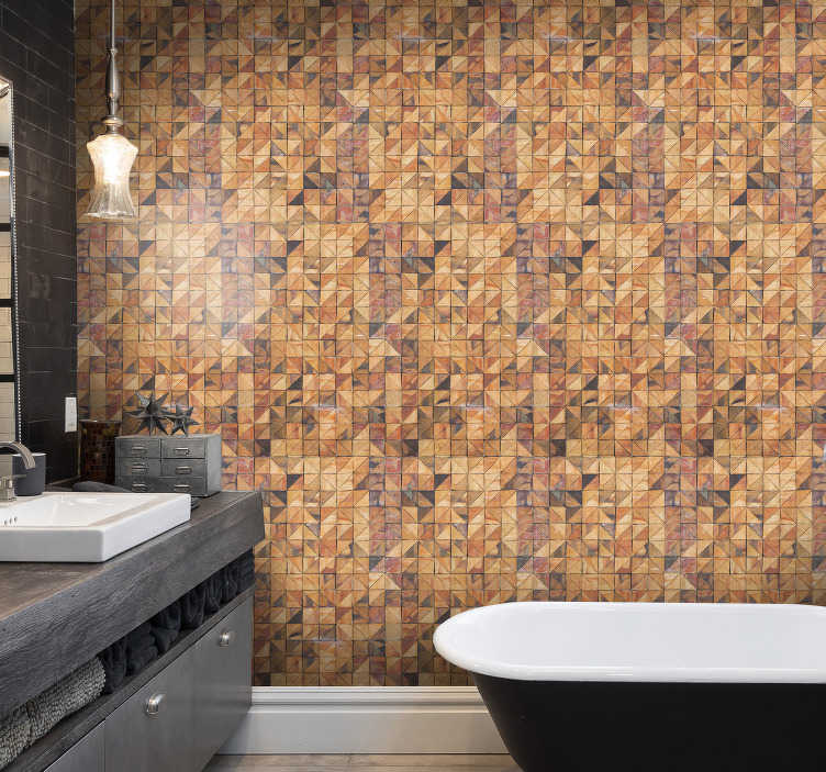 TenStickers. Wallpaper with vintage stones. Decorate your bathroom or any other room in your house with this stunning stone wallpaper. Easy application, you can do it on your own!