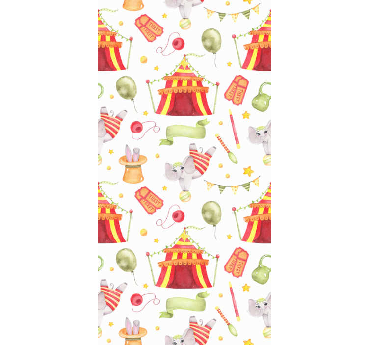TenStickers. Wallpaper circus tents. Transform your childrens rooms with this kids wallpaper that will create a magical atmosphere in any room you put it. High quality!