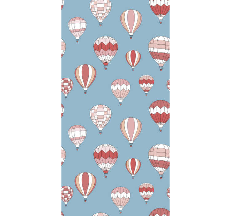 TenStickers. Wallpaper pink hot air balloons for kids. Decorate your children rooms with those stunning kids wallpaper. They will be suprised with every detail of this amazing product!
