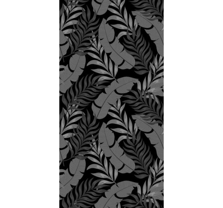 TenStickers. Forest Wallpaper jungle leaves. Order a luxury nature wallpaper that will transform your living room or bedroom into a place full of elegance and class.