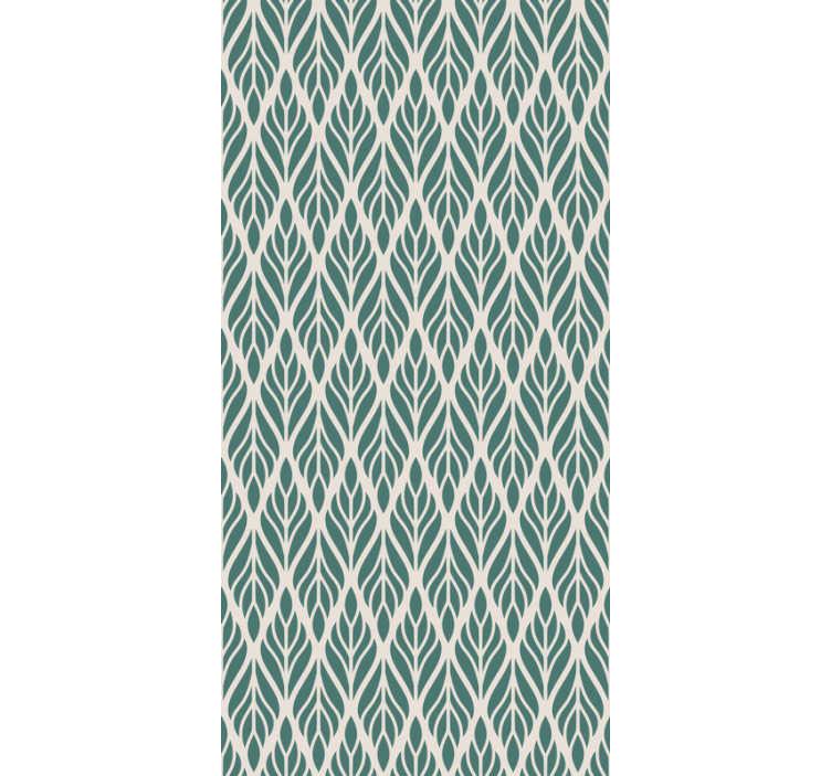 TenStickers. Papel de parede verde padrão floral. Esqueça as paredes chatas com este elegante papel de parede decorativo feito de material de alta qualidade. Registre-se e obtenha 10% de desconto no primeiro pedido!