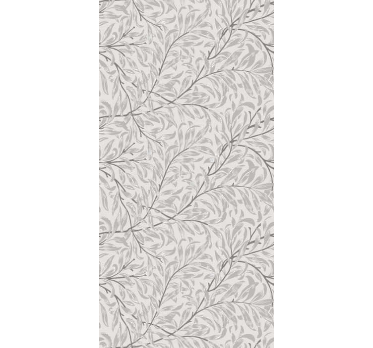 TenStickers. Living Room Wallpaper grey scale floral pattern. Redecorate your living room with this grey patterned wallpaper with the floral design. Matte finishings and no air bubbles.