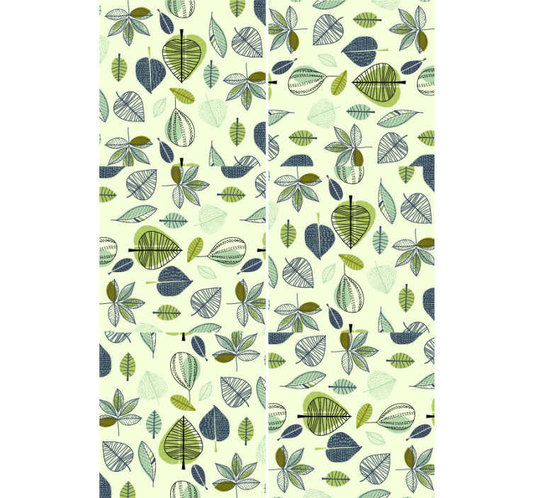 TenStickers. Simplistic green leaves Nature Wallpaper. Bring the nature's peace and tranquility to your home decors with this fantastic nature wallpaper with a leaf pattern on a lime green background.