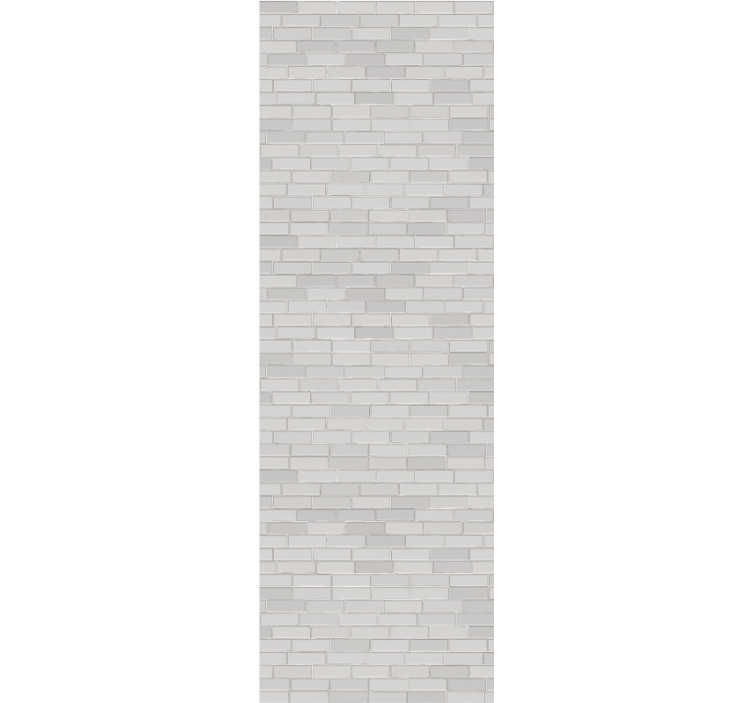 TenStickers. White bricks Textured Wallpaper. Fall in love with this modern brick wallpaper that is an absolute top trend in the world of decoration. Matte finishing!