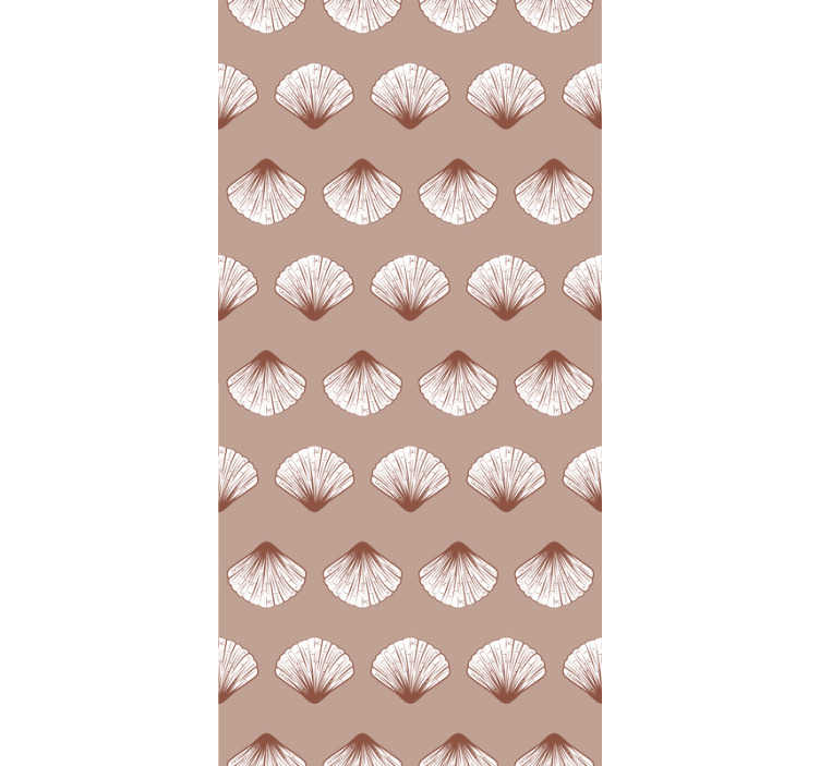TenStickers. Shell art Vintage Wallpaper. Order this subtle pink wallpaper with shells that will remind you the serenity of the sea, the sound of waves and warm sand under your feet.