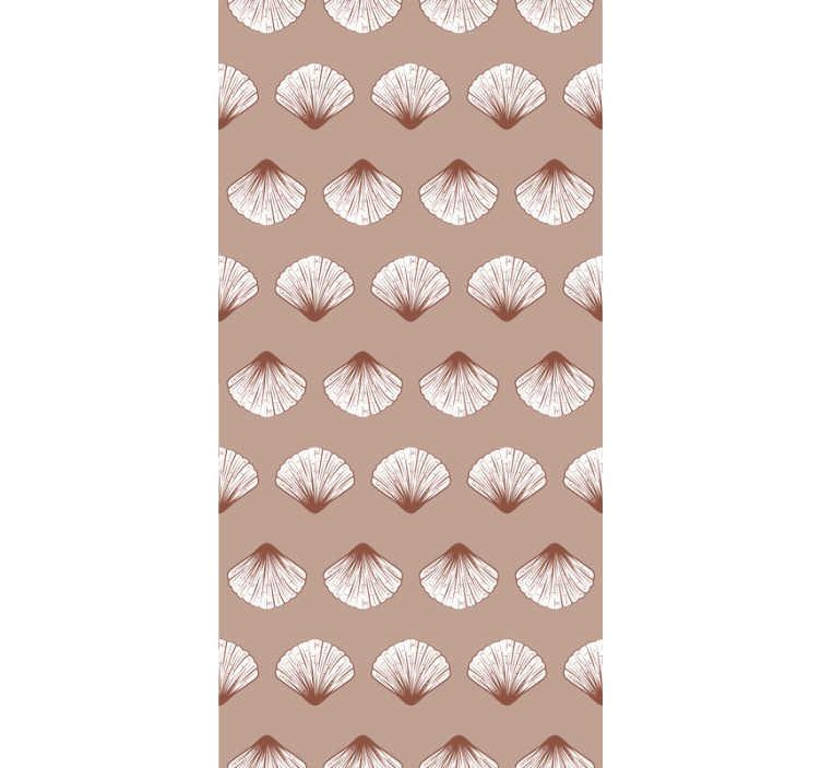 TenStickers. Carta da parati vintage shell art. Ordina questa sottile carta da parati rosa con conchiglie che ti ricorderà la serenità del mare, il suono delle onde e la sabbia calda sotto i tuoi piedi.