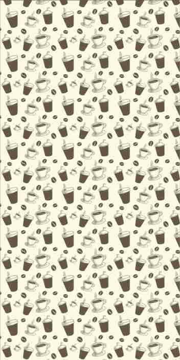 TenStickers. Cup of coffee Kitchen Vinyl Wallpaper. If you're one of those that can survive a day without having a good coffee, then this kitchen wallpaper is a must in your home decor.