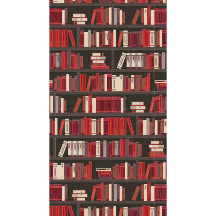 TenStickers. Wardrobe with books Living Room Wallpaper. Buy our featured wardrobe with books wallpaper for your  living room space and see how your space will turn out. Easy to maintain and apply.