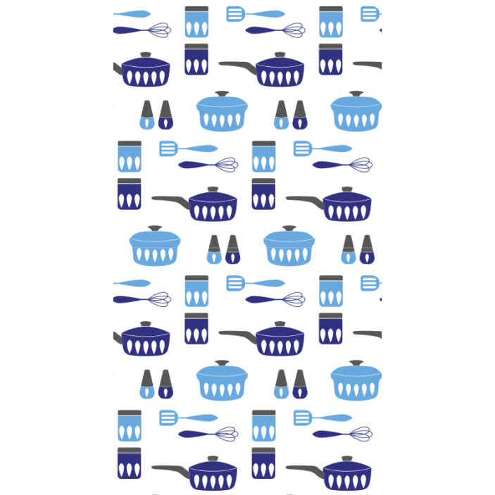 TenStickers. Kitchen utensils  Kitchen Wallpaper. Decorate your kitchen with our original kitchen utensil design wallpaper. It is easy to apply,  clean and it is waterproof.