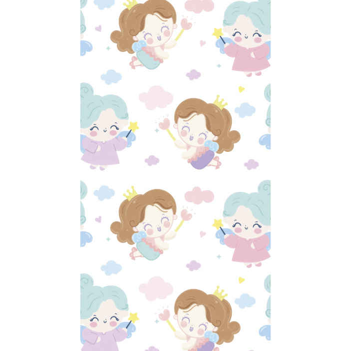 TenStickers. Different fairy kids  Kids Wallpaper. Decorate the bedroom space of your kid with the touch of different fairies in our modern wallpaper decoration for children bedroom space.
