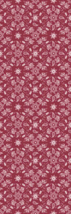 TenStickers. Beautiful paisley flowers Living Room Wallpaper. Decorative luxury vinyl wallpaper featured with ornamental paisley patterns on red background. It is easy to apply and highly durable.