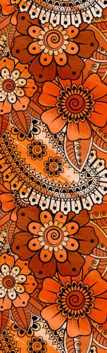 TenStickers. Paisley indiai stílusú hálószoba háttérkép. Dekoratív díszes tapéta hálószobához díszes paisley kivitelben, indiai stílusban. Könnyen alkalmazható.