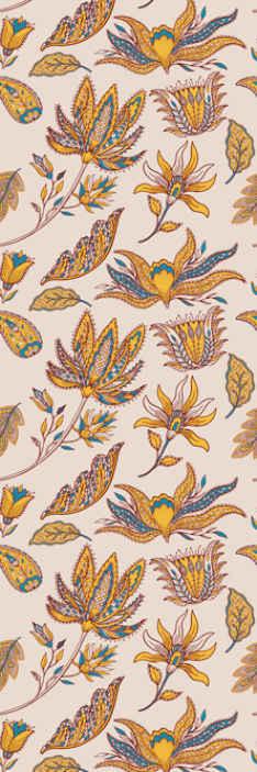TenStickers. Papier peint Fleurs colorées. Un papier peint fleurs colorées pour une décoration moderne de votre chambre. Il est facile à appliquer et la taille est au choix.