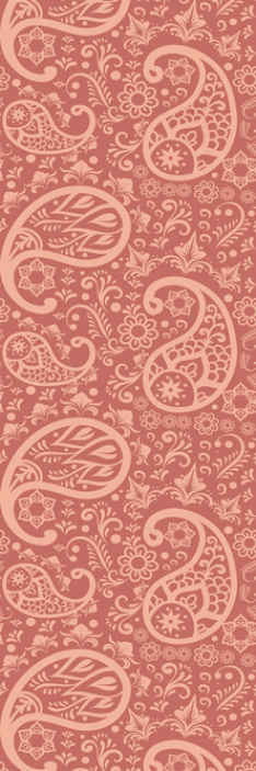 TenStickers. Paisley Pattern Bedroom Wallpaper. Brown wallpaper with ornamental paisley design for a bedroom decoration. It is made with best quality material and easy to maintain.
