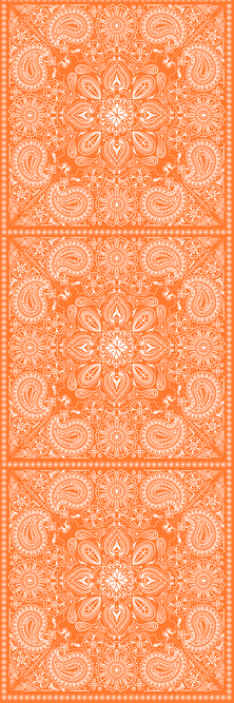 TenStickers. Paisley Tile Bedroom Wallpaper. Bring an ornamental design on your bedroom space in our orange colour wallpaper with paisley design. It is easy to apply.