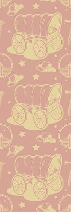 TenStickers. Kovboy vagon çocuk duvar kağıdı. Kovboy kimliğini tasvir çeşitli tasarım özellikleri ile dekoratif yatak odası duvar kağıdı. ürün yüksek kaliteli malzeme ile yapılır.
