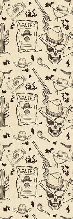 TenStickers. Batı simgeleri çocuk duvar kağıdı. Bir kovboy tasvir ikonik batı özellikleri ile güzelleştirmek için güzel ikonik duvar kağıdı. Uygulaması kolaydır ve iyi kalitede yapılır.