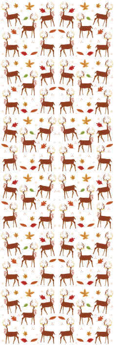 TenStickers. Deer Living Room Wallpaper. A decorative deer animal wallpaper for children bedroom. A lovely decoration to enhance the space of any kid with the touch of a pretty jungle.