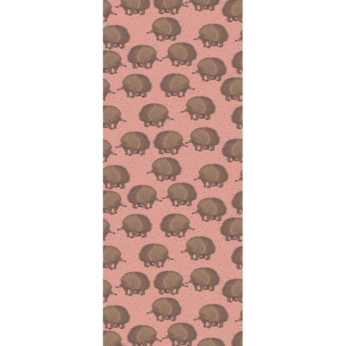 TenStickers. porcupine and dots wallpaper. Decorative brown porcupine wallpaper. The design host brown prints of porcupines with dots on a  lovely coloured background.
