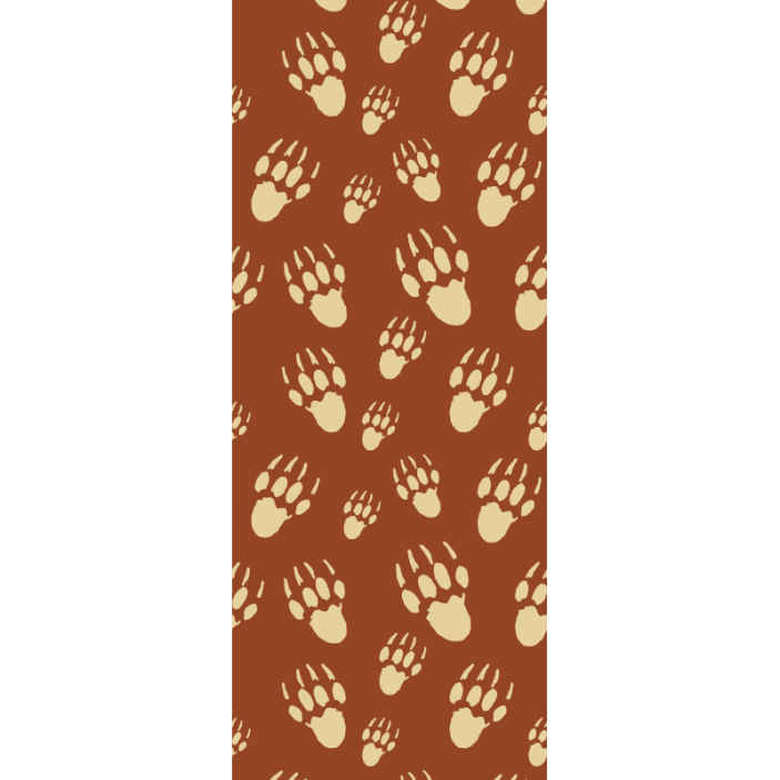 TenStickers. Porcupine footprint wallpaper. Decorative porcupine footprint wallpaper design.  A coloured background design with multiple footprints of porcupine.Easy to apply and of high quality.