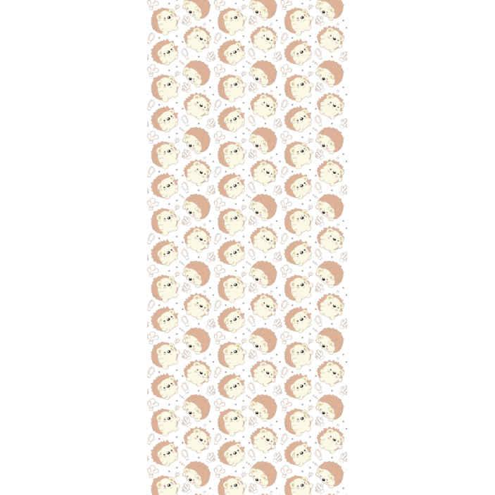 TenStickers. Stekelvarken patroon behang. Decoratief kleine stekelvarken patroon behang ontwerp. De applicatie is heel eenvoudig, duurzaam en origineel. Het wordt aanbevolen voor kinderkamers.