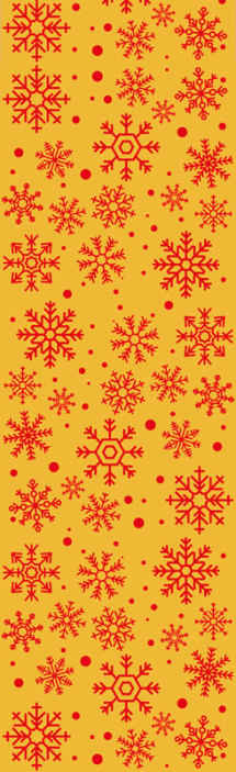 TenStickers. Christmas snowflakes Feature Living Room Wallpaper. Snowflakes pattern Christmas wallpaper design with a yellow background that would be lovely to decorate a living room space for christmas.