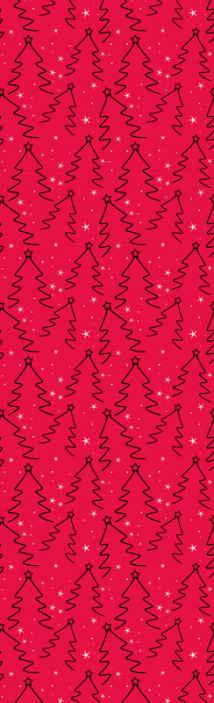 TenStickers. Tapisserie salon Ligne d'arbre de noël. Conception de papier peint de noël agréable pour un salon. C'est une conception de fond rouge avec la conception d'arbre de noël ornemental.