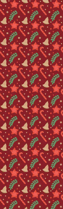 TenStickers. Christmas candy pattern red Red Wallpaper. Red background wallpaper design featured with Christmas cookies design. It is original, durable and really easy to apply on flat surface.