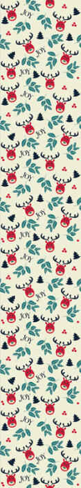 TenStickers. Joy and reindeer  Feature Living Room Wallpaper. Featured reindeerChristmas wallpaperdesign for home decoration. It is easy to apply and made from high quality material.