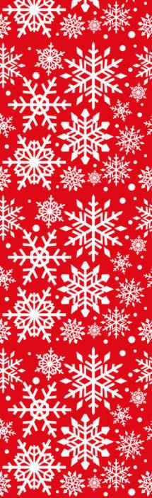 TenStickers. Rood behang Rode sneeuwvlokken. Breng de herfst van kerst sneeuw op u ruimte in ons decoratieve witte sneeuwvlokken op rode achtergrond behang  dat is gemaakt op een rode achtergrond.