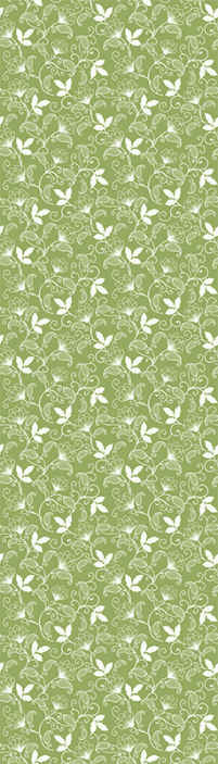 TenStickers. Cute green Nature Wallpaper. Our decorative green ornamental flower vintage wallpaper is suitable for your living room and bedroom space. Easy to apply and made of high quality.