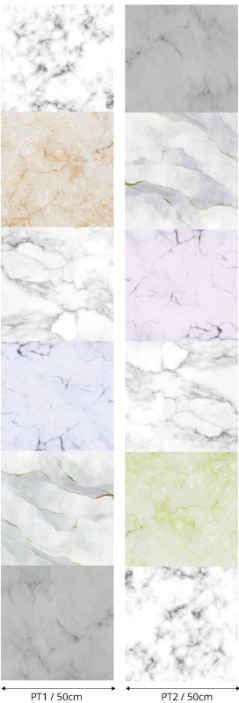 TenVinilo. Papel pintado efecto mármol patrón blanco y gris. Decora la pared de tu casa con piedras coloridas colocadas con este colorido papel pintado blanco efecto mármol ¡Envío a domicilio!