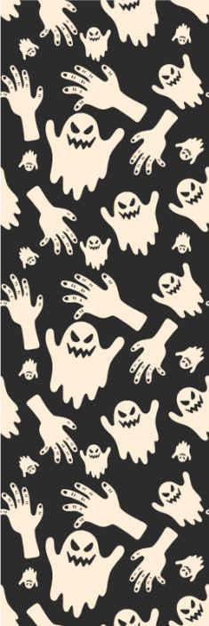 TenStickers. Tapeta Gromada duchów. Przerażająca i wspaniała tapeta na Halloween do dekoracji domu i innych wiecznych przestrzeni na halloween.. Jest oryginalna i łatwa do zastosowania.