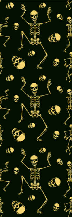 TenStickers. funny skeletons dancing White Pattern Wallpaper. Spooky skeleton wallpaper to scare all of your guests this Halloween! This anti-bubble wallpaper is perfect for your walls.