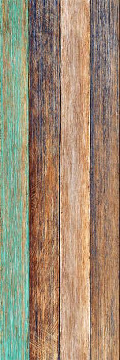 TenStickers. 蓝色和棕色层压木壁纸. 装饰木纹墙纸设计适合经典和精致的装饰。模仿硬质感木质表面创建此设计。
