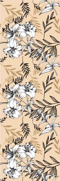 TenStickers. Papier peint fleur moderne sticker floral noir et jaune. Donnez de la vie à n'importe quelle pièce intérieure de votre maison avec notre papier peint à motifs de fleurs de haute qualité. Il est original, durable et facile à appliquer.