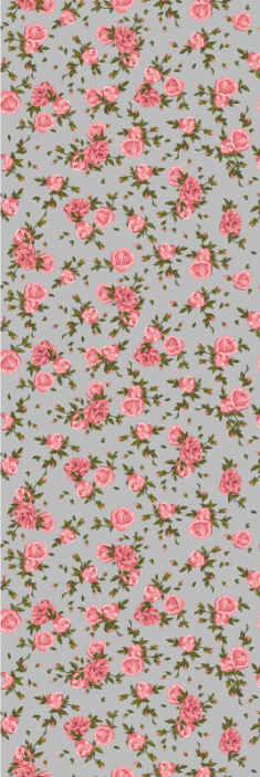 TenStickers. Roses pattern Nature Wallpaper. Roses are beautiful and it enhances any space in a lovely way. Why not purchase this rose flower pattern wallpaper to decorate your home or office.