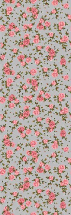 TenStickers. Behang bloemen Rozen patroon. Rozen zijn mooi en verfraaien elke ruimte op een mooie manier. Waarom koopt u dit behang met rozenpatroon niet om uw huis of kantoor te versieren?