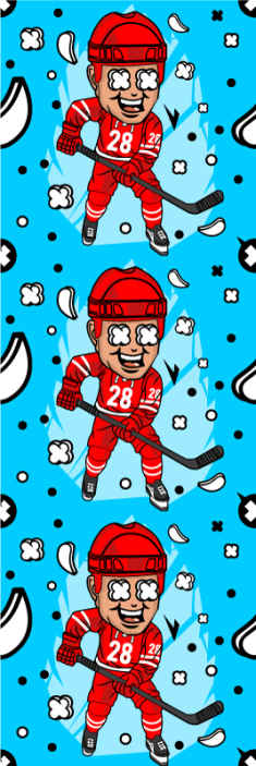 TenStickers. Funny hockey player Kids Wallpaper. Featured hockey players wallpaper design for teenagers and kid's bedroom decoration. It is easy o apply and made of high quality material.